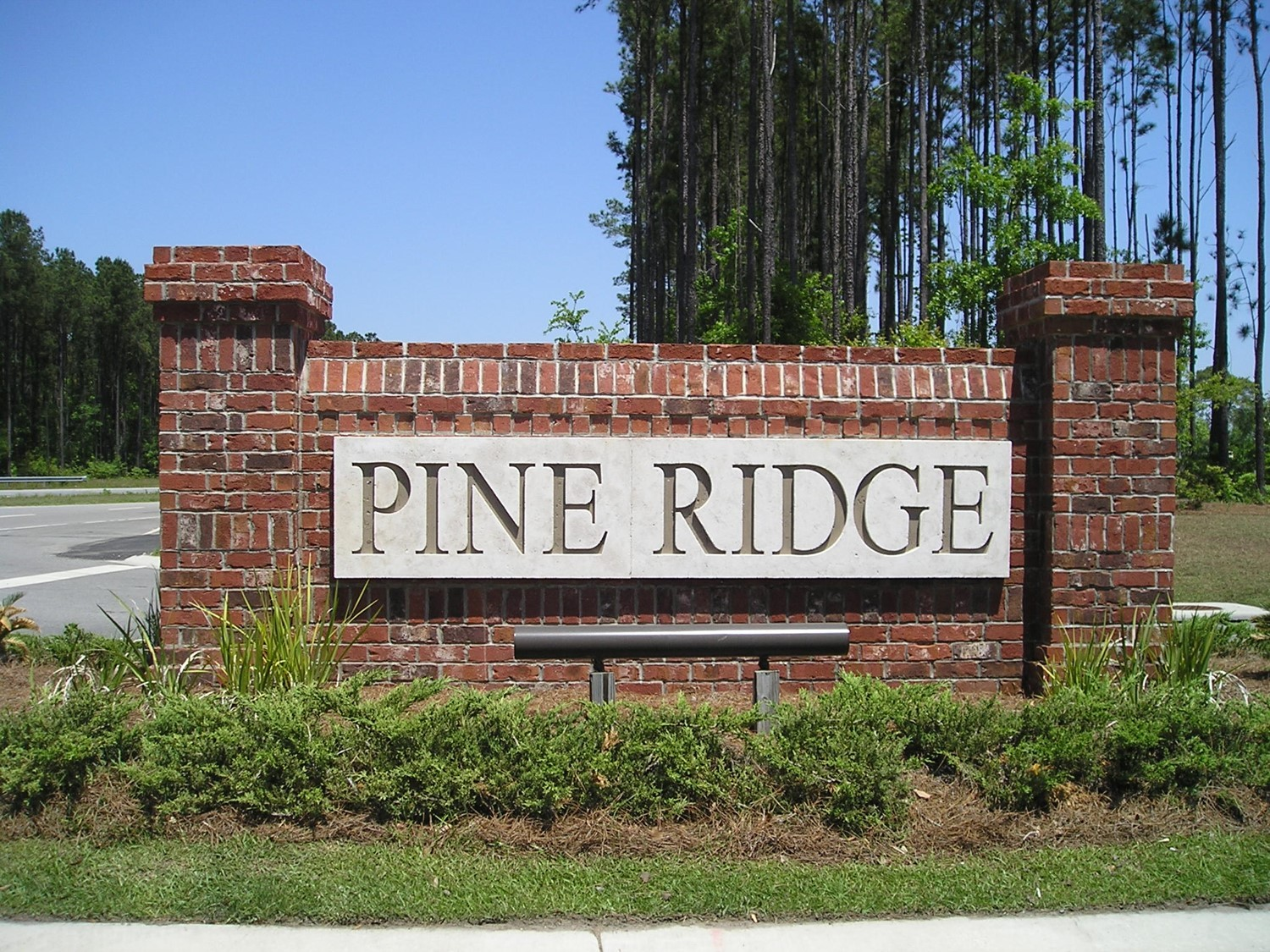 Pine Ridge entry sign